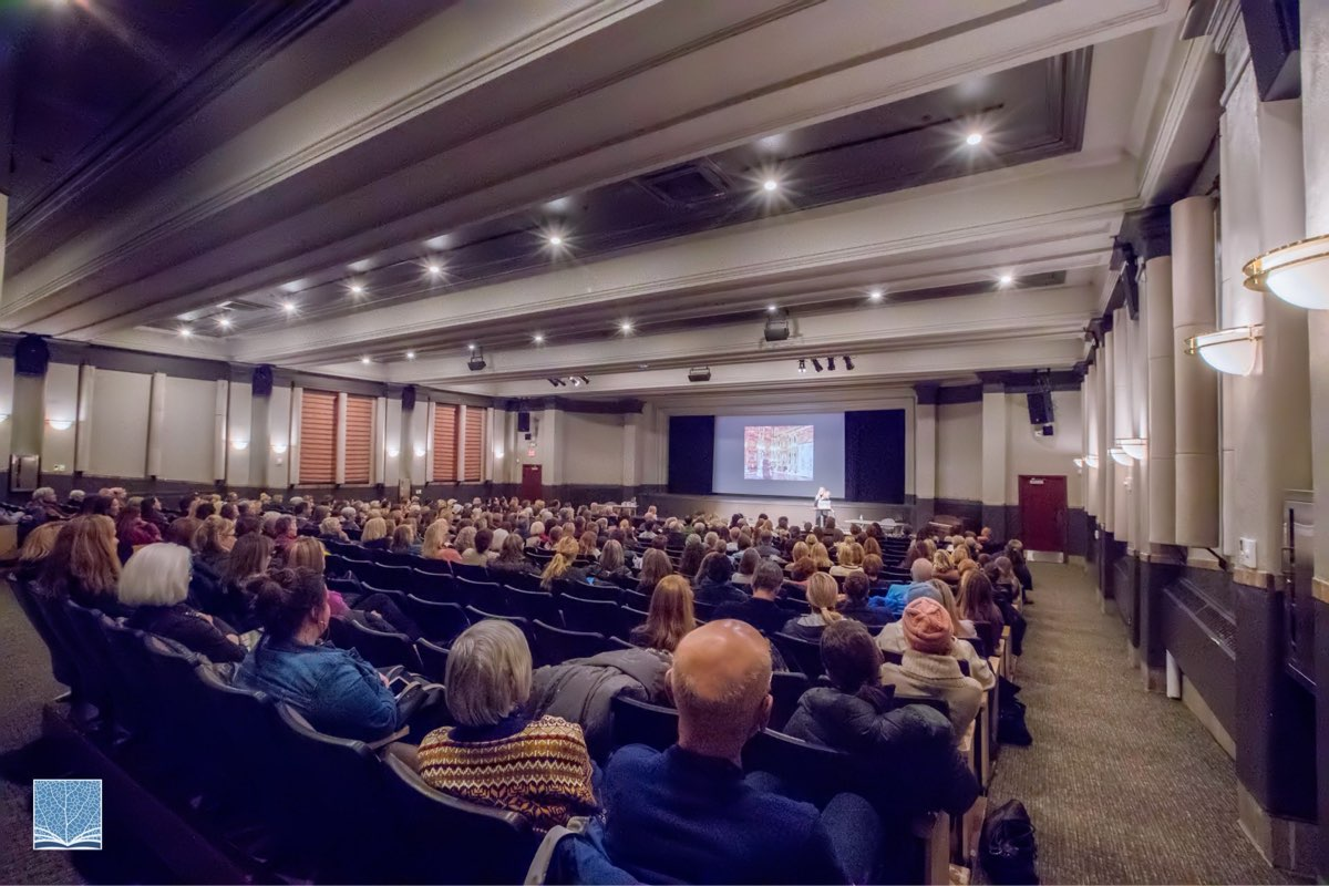 The Jim Santy Auditorium is an event rental best suited for film screenings, large lectures or community forums, business retreats and conferences.