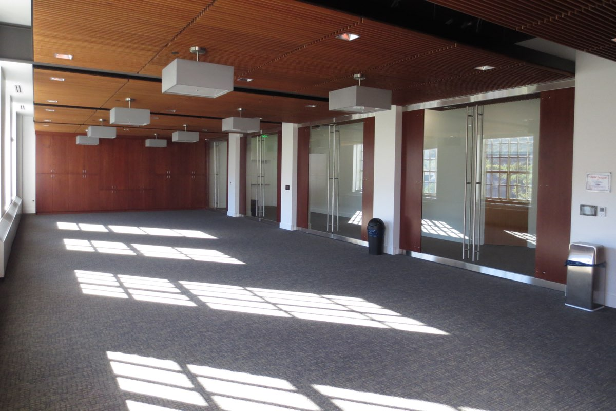 The Community Room, located on the 3rd floor, is available for event venues and is best suited for events or meetings with attendance of 20-70 people.